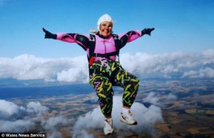 skydiving senior citizen